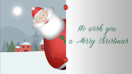 Santa Claus approaches and looks to greet you with his wide smile. Banque d'images - 120359228