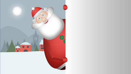 Santa Claus looks out to greet you with his huge smile. Banque d'images - 120359226
