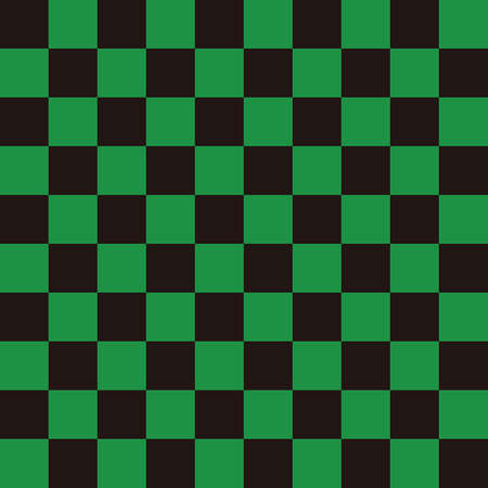 Ichimatsu pattern Black x Green L