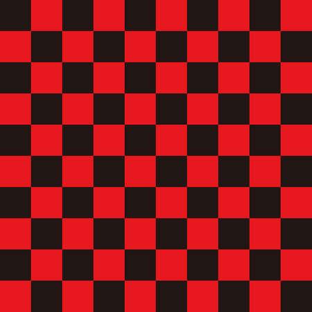 Ichimatsu pattern Black x Red L