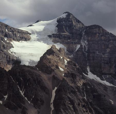 Northwest face of Mount Aberdeen, Banff National Park, Alberta Stock Photo