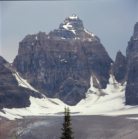 The Mitre from the Plain of Six Glaciers Trail, Banff National Park, Alberta Stock Photo