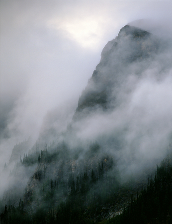 Storm in the mountains above Lake Louise, Banff National Park, Alberta