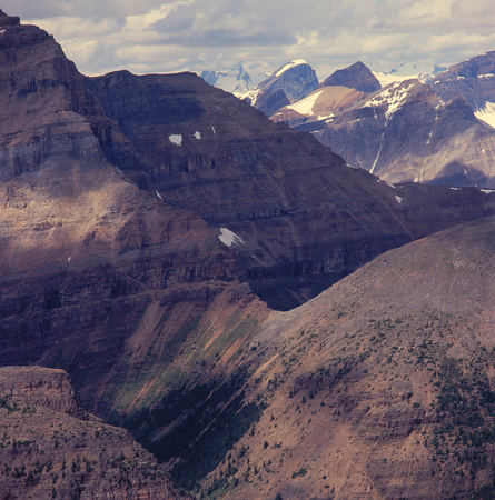 From the summit of Fairview Mountain, Banff National Park, Alberta Stock Photo