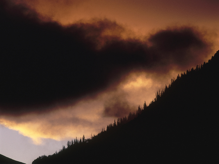 Clearing storm at sunset, San Juan Range, Colorado