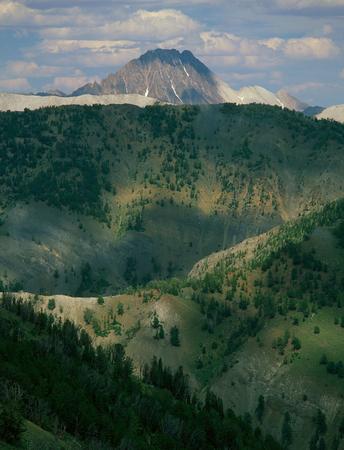 Castle Peak from the summit of Horton Peak, White Cloud Mountains, Idaho
