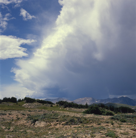 Approaching thunderstorm on the Ute Trail, Rocky Mountain National Park, Colorado