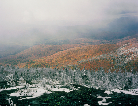 Summit of Caribou Mountain, Caribou-Speckled Mountain Wilderness, Maine Banco de Imagens