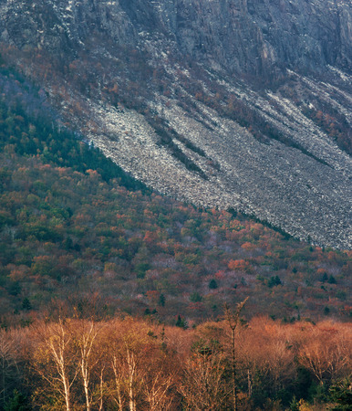 East face of Cannon Mountain, Franconia Notch, New Hampshire