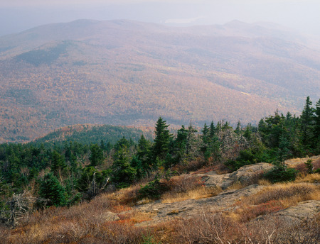 Haze in the Carter-Moriah Range, from the summit of North Kearsarge Mountain, New Hampshire Stok Fotoğraf