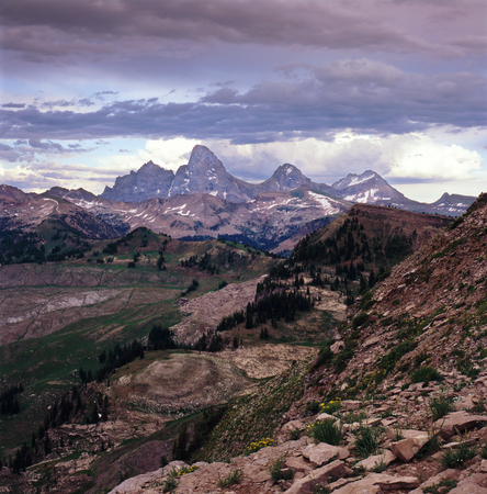 The Cathedral Range and Jedediah Smith Wilderness, Grand Teton National Park, Wyoming