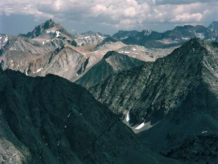 From the summit of Mount Starr in the John Muir Wilderness, Sierra Nevada Range, California