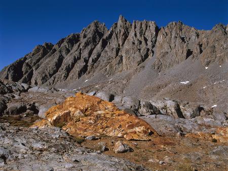 Bishop Pass and the Inconsolable Range, Sierra Nevada, California Фото со стока
