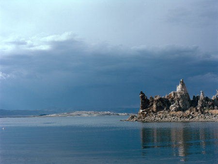 Tufa towers on Mono Lake, eastern Sierra Nevada, California