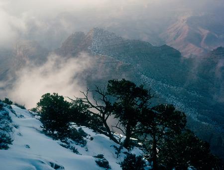 Clearing winter storm, Grand Canyon National Park, Arizona Фото со стока
