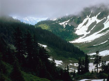 Storm clouds over Pelton Basin and Cascade Pass, North Cascades National Park, Washington