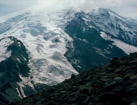 Mount Rainier from the summit of 3rd Burroughs Mountain, Mt. Rainier National Park, Washington