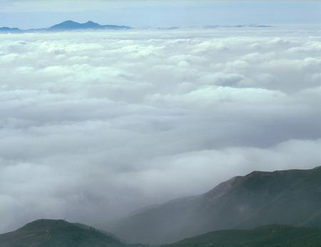 Low clouds at dawn, San Bernardino Range, California