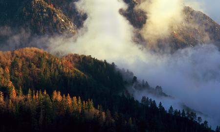 Sunrise clouds, San Bernardino Range, California