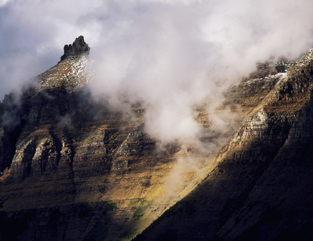 Storm clouds rolling over the Garden Wall, Glacier National Park, Montana