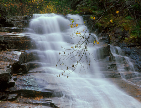 Ripley Falls, White Mountain National Forest, New Hampshire Фото со стока