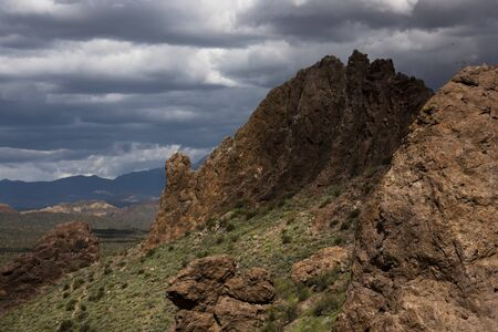 Approaching Storm on the Treasure Loop Trail, Lost Dutchman State Park, Arizona