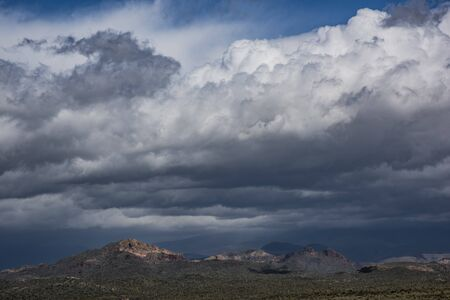 Storm clouds in the Superstition Mountains, Lost Dutchman State Park, Arizona