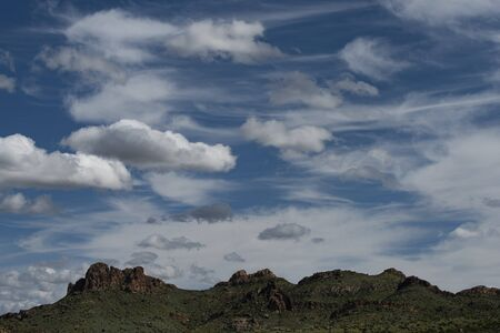 Morning clouds in the Superstition Mountains, Lost Dutchman State Park, Arizona