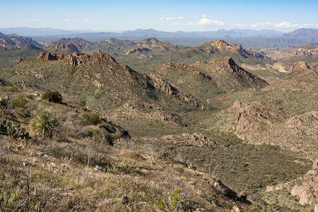 Massacre Grounds Trail, Superstition Mountains, Arizona Фото со стока