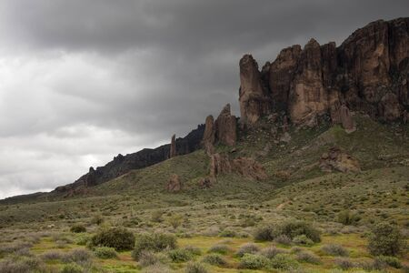 Storm Sky Above Superstition Mountain, Lost Dutchman State Park, Arizona