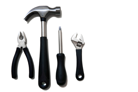 screwdriwer: A set of tools - isolated on white