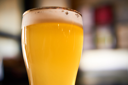 condensed: glass of cold beer in the pub Stock Photo
