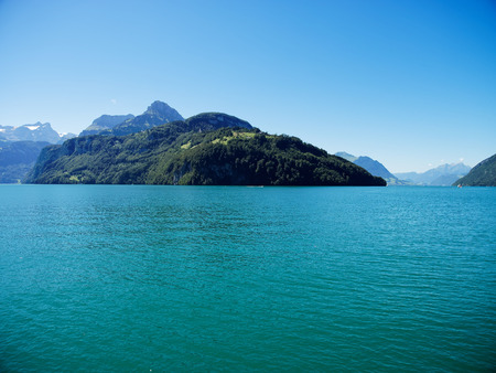 Lake of lucerne in switzerland. view of urnersee from morschach Stock Photo