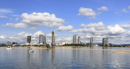 A view of the city from Seaworld  Gold Coast, Australia Stock Photo - 17342128