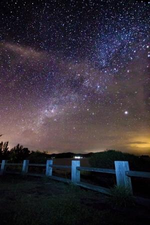 melkachtig: Melkweg op Borneo, Sabah, Maleisië