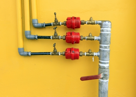 water pipes: Water pipes and meter