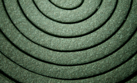 Closeup of a mosquito coil s pattern and texture photo