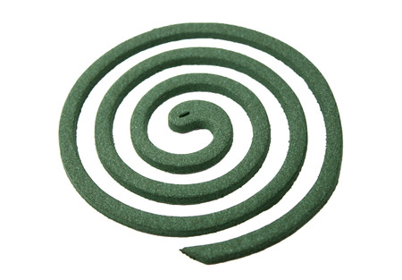insectiside: Mosquito coil isolated on white Stock Photo