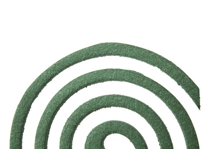 Mosquito coil isolated on white photo