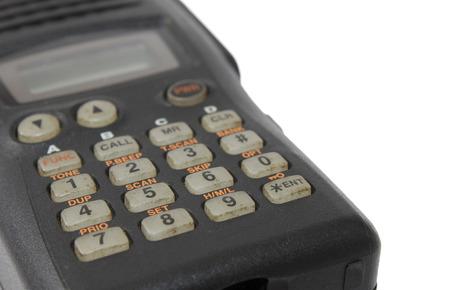 Black ham radio dialler isolated on white photo