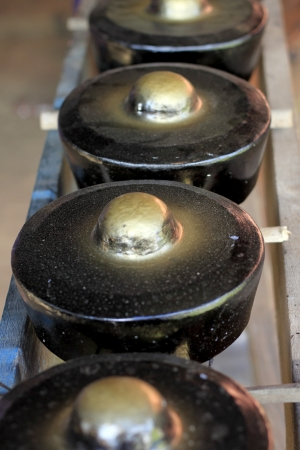 Small traditional gongs from Sabah, Borneo, Malaysia photo