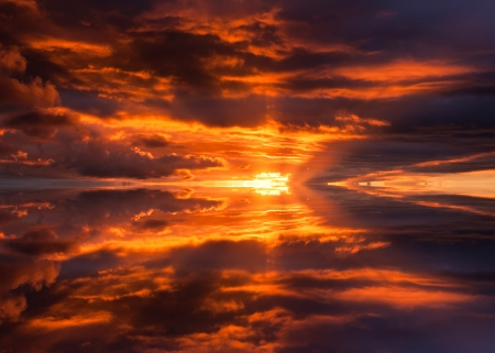 Abstract reflection of colorful sunset for background Stock Photo - 24358395
