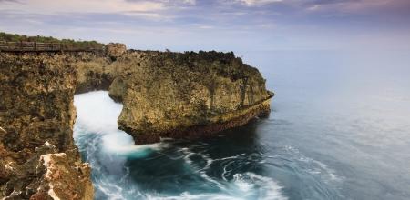Coastal landscape at Water Blow, Bali, Indonesia Stock Photo - 24503287