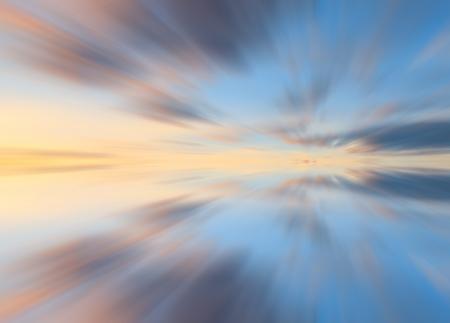 long exposure: Long exposure shot of colorful reflection