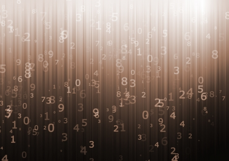numerical: Numerical designed computer background