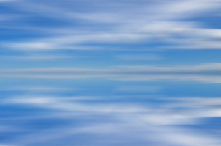 exposure: Artificial long exposure of clouds Stock Photo