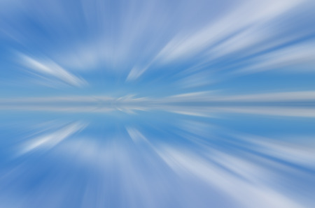 Artificial long exposure of clouds Stock Photo