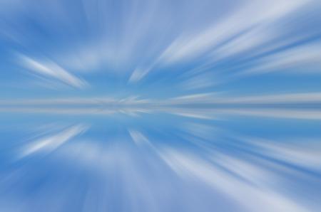 long exposure: Artificial long exposure of clouds Stock Photo