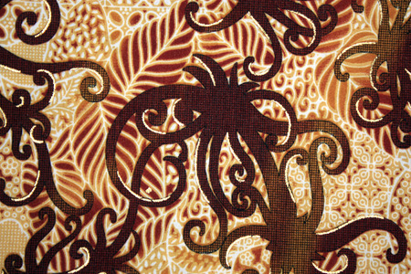 indonesia culture: Fabric with floral batik pattern