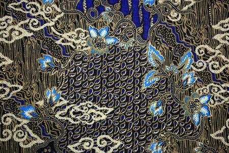batik pattern: Fabric with floral batik pattern